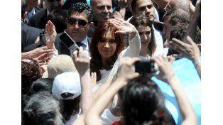 Cristina: Espero una Argentina sin represión y sin censura