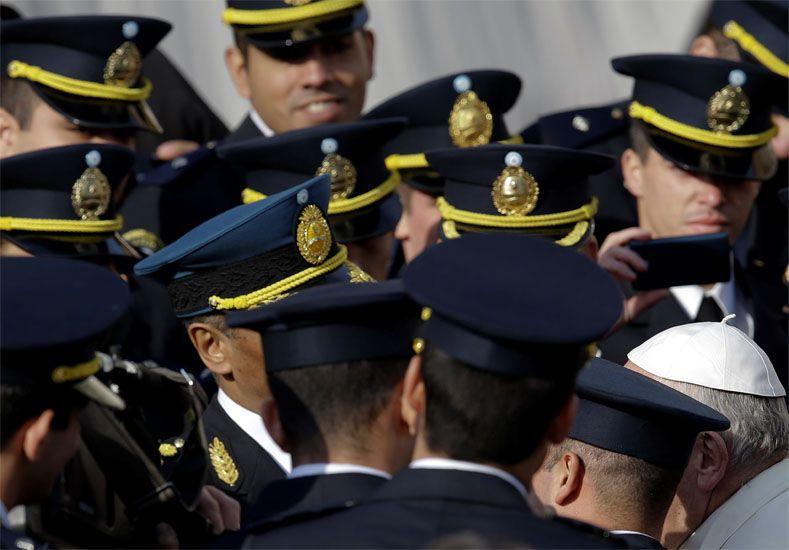 La imagen. La foto de los cadetes recorrió el mundo. Foto: AP
