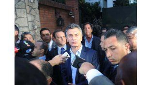 Macri al salir de la reunión en Olivos.