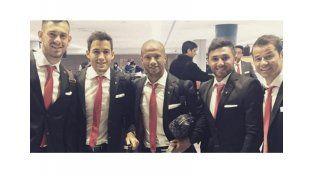 EL plantel de River llegó a Japón para disputar el Mundial de Clubes   Foto Instagram Oficial Augusto Batalla