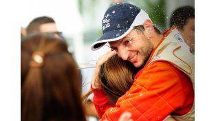 El paranaense celebró con todo una nueva conquista en el Rally Argentino. Foto Gentileza/Prensa Favio Grinóvero
