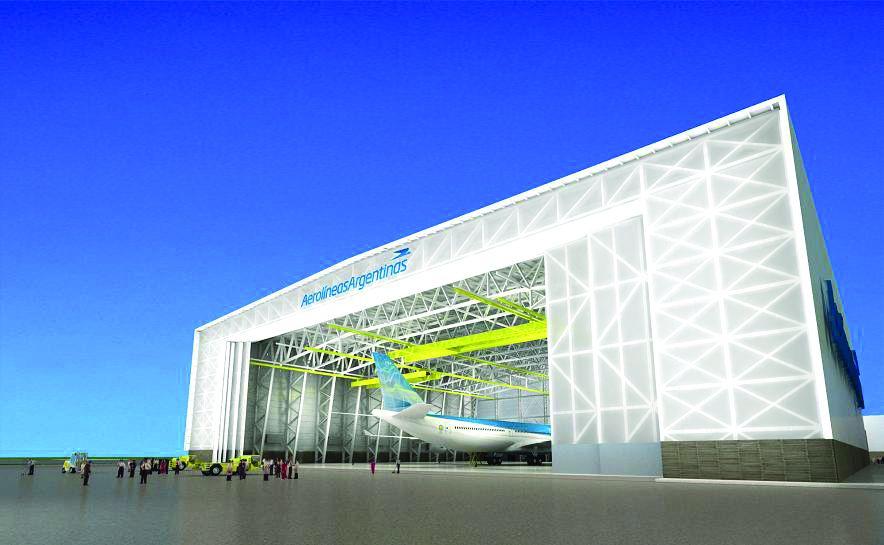 Aerolíneas Argentinas contará desde marzo con el hangar más grande de Sudamérica