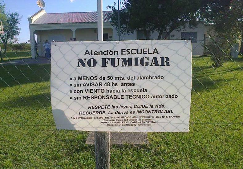 Medida. En Concepción aprobaron una ordenanza que establece distancias de fumigación.  (Foto gentileza Facebook Asamblea Ciudadana Ambiental Concepción del Uruguay)