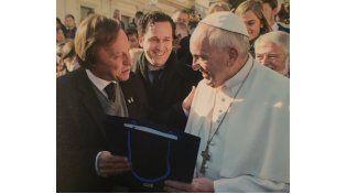 Sergio Varisco visitó al Papa Francisco
