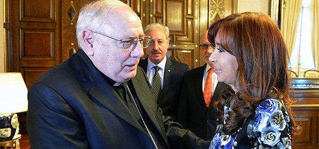 Cristina Kirchner se reunió con la Iglesia en la Casa Rosada