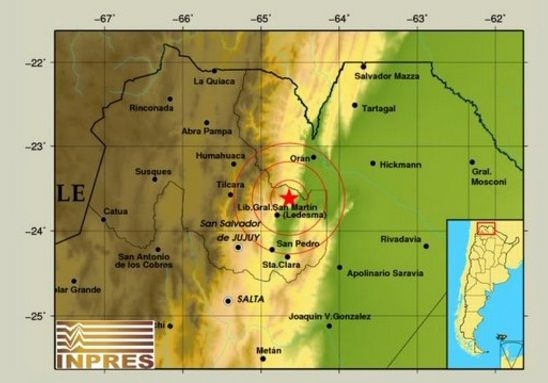 Un temblor con epicentro en Jujuy se sintió en noroeste  argentino