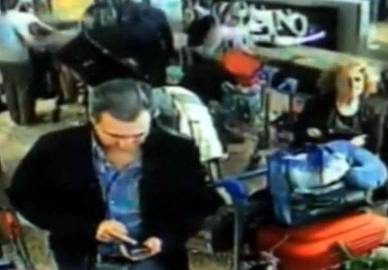 Foto: Imágenes cámaras de seguridad del Aeropuerto de Ezeiza