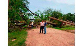 Un fuerte temporal afectó varias zonas de Chaco