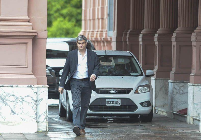 Marcos Peña en la Casa de Gobierno.  Foto: Télam