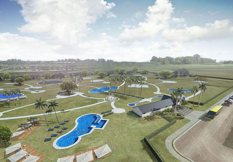 Plan. El complejo sobre las barrancas a la vera del río Paraná apunta al desarrollo local.