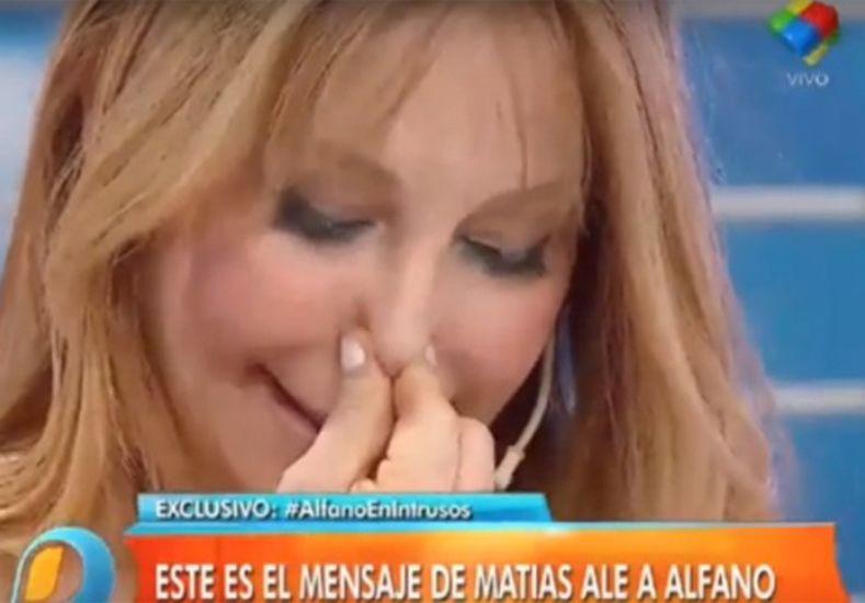 Graciela Alfano lloró cuando le leyeron la carta de Matías Alé