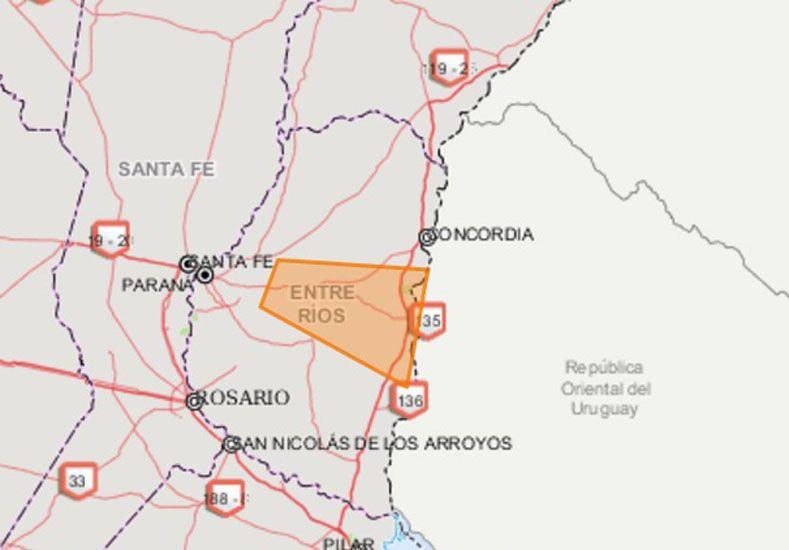 Alerta por tormentas fuertes y granizo para la región