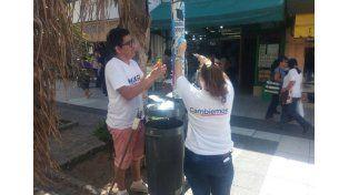 Comenzó el operativo de limpieza de cartelería y afiches políticos