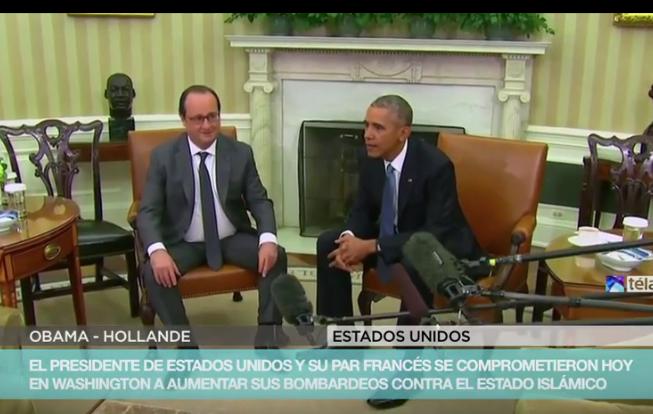 Obama y Hollande prometen redoblar la ofensiva militar contra el Estado Islámico