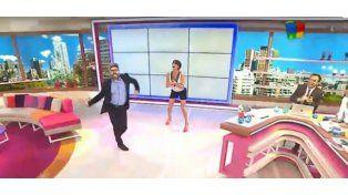 Un día Luis Novaresio se soltó y bailó desenfrenado La mordidita