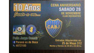 EL COSTO. Las tarjetas para la cena tienen un valor de 300 pesos (140 los menores) con la bebida incluida.