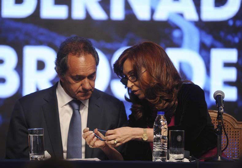 Cristina recibió a Scioli y Zannini