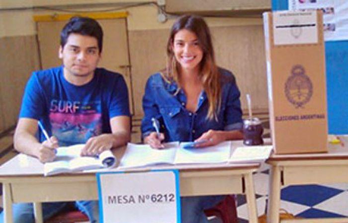 Calu estuvo en la mesa 6212 de una escuela del barrio porteño de Colegiales.