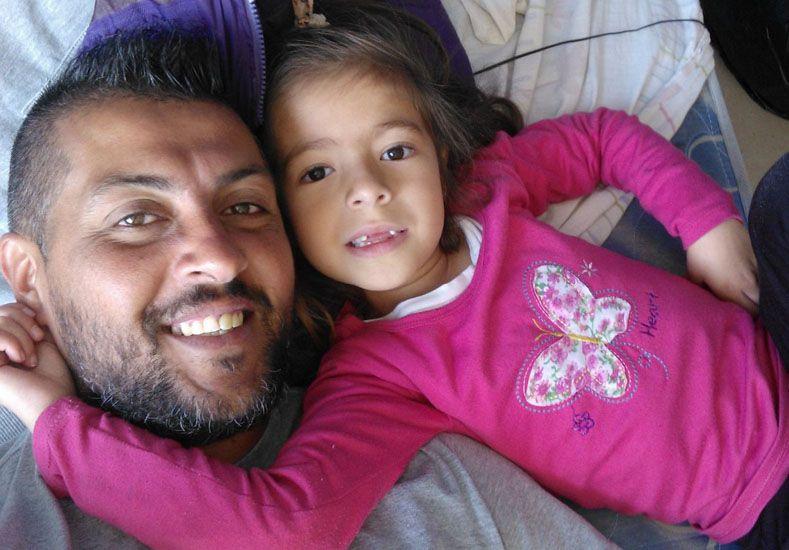 Con su hija Sofía en Tandil.