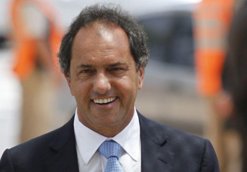 Scioli. El postulante del Frente Para la Victoria es gobernador de Buenos Aires.