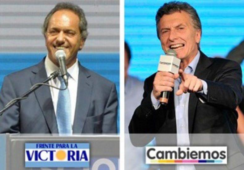 Scioli y Macri. Foto: Télam