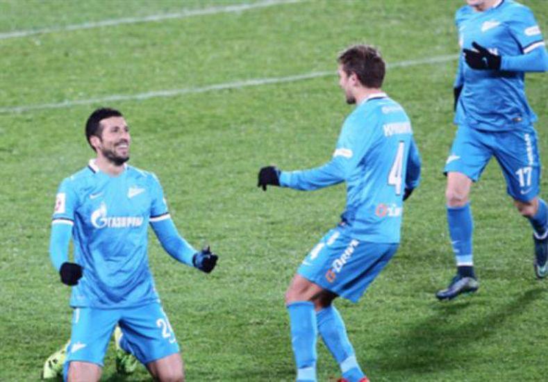 Garay convirtió un golazo para el triunfo del Zenit.