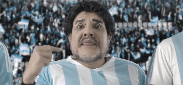 El nuevo video de Bossi con Messi y Maradona, a horas del balotaje