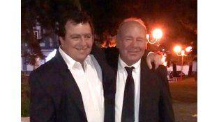 Padre e hijo. Néstor Giusti -a la izquierda- y Mateo Giusti: Néstor es el actual titular de la Junta.
