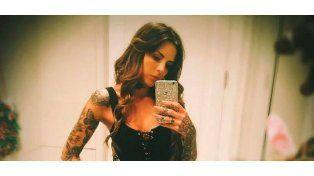 Candelaria Tinelli mostró el final de su inmenso tatuaje en su espalda