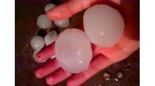 Temporal de granizo y lluvia golpeó a la localidad de Alcaraz