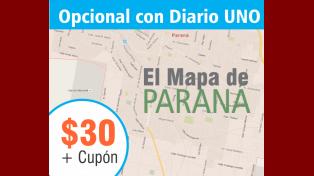 Diario UNO pone a la venta un completo mapa de Paraná a un precio increíble