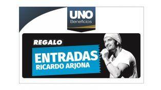 Suscribite a Diario UNO y llevate de regalo dos entradas para ver a Arjona
