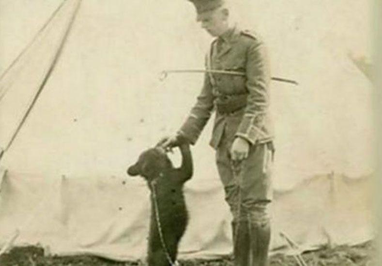 El Capitán Harry Colebourn decidió dejar a Winnie en el Zoológico de Londres al ser llamado a combatir en Francia. Foto: Lindsay Mattick