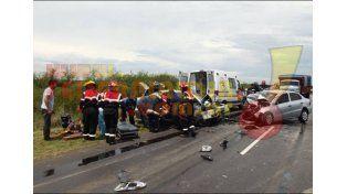 Tres personas murieron en un choque frontal sobre ruta provincial 22