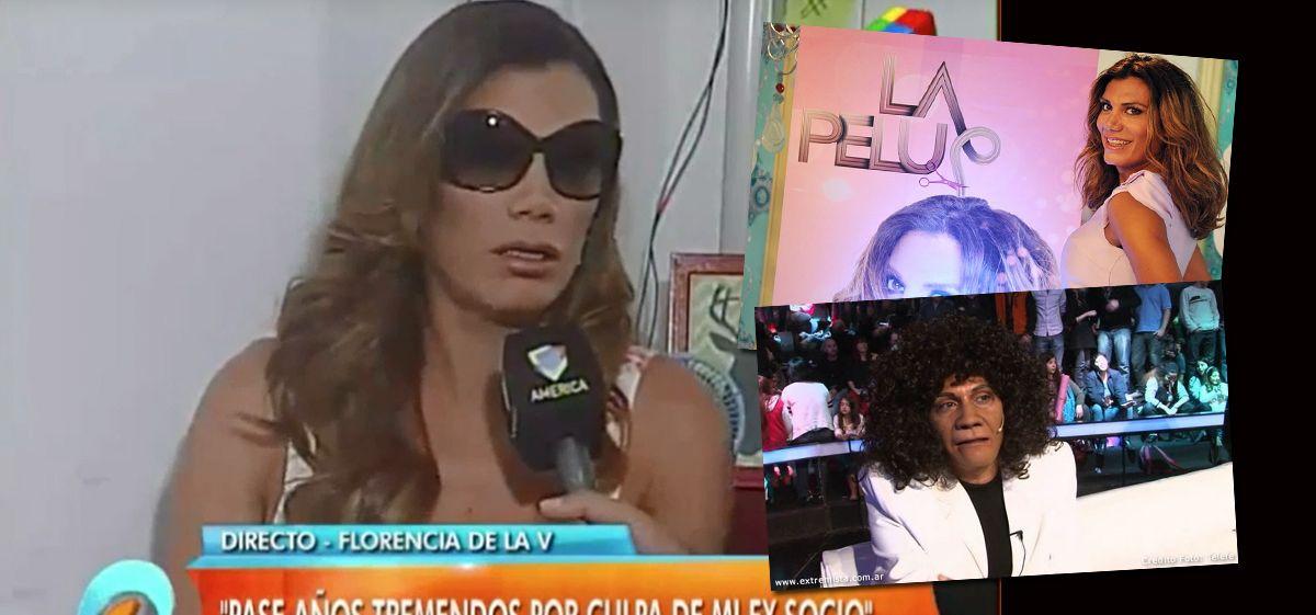 """Florencia de la V: """"Hice la imitación de La Mona Jiménez para darle de comer a mis hijos"""""""