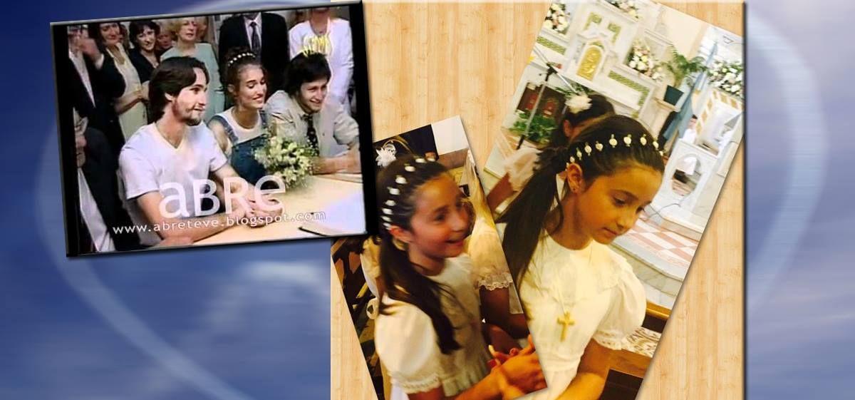 La emotiva comunión de la hija de Romina Yan: usó la corona con la que se casó su mamá