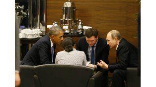 Obama y Putin en el G20. Foto: AP