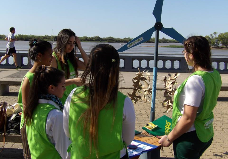 El grupo Greenpeace Paraná celebró tres años de trabajo