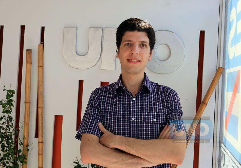 Durante su visita a la Redacción de UNO. (Foto UNO/Diego Arias)