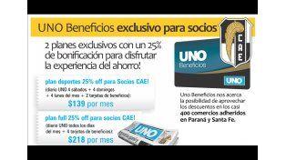UNO Beneficios tiene planes exclusivos para socios del CAE