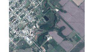El accidente fue en la zona cercana a las lagunas cloacales de Hernandarias. (Foto: Google Maps)