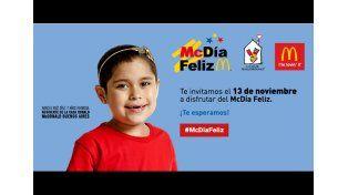 El McDia Feliz será el 13 de noviembre