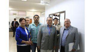 Instancia judicial. Directivos del Colegio participaron ayer en una audiencia por la demanda.  Foto UNO/Diego Arias