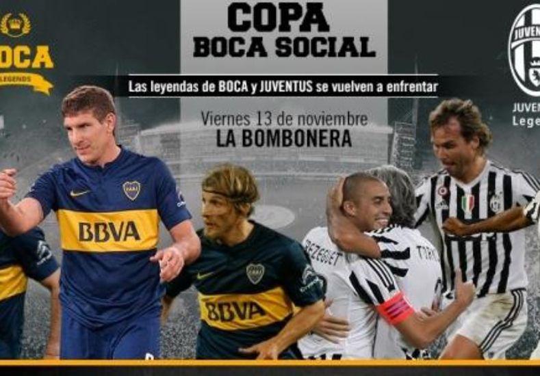 Se suspendió el partido de las leyendas entre Boca y Juventus
