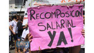 Los docentes realizan un paro durante 48 años y reclaman aumento salarial.   Foto UNO/Archivo ilustrativa
