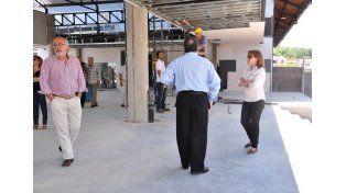 Osuna mostró los avances de la obra del complejo multieventos del puerto