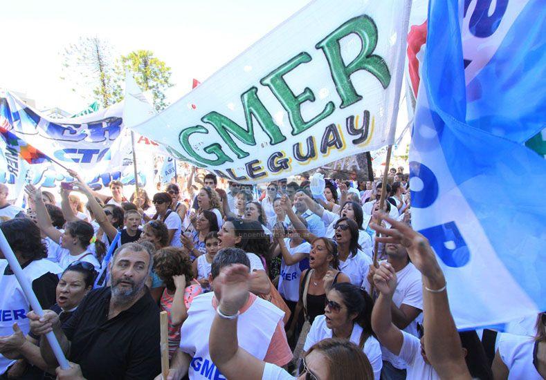 Huelga. Las de esta semana podrían ser las últimas del año.  Foto UNO/Juan Ignacio Pereira