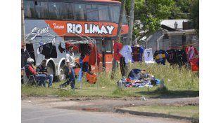 El encuentro nacional motivó la presencia de vendedores ambulantes.