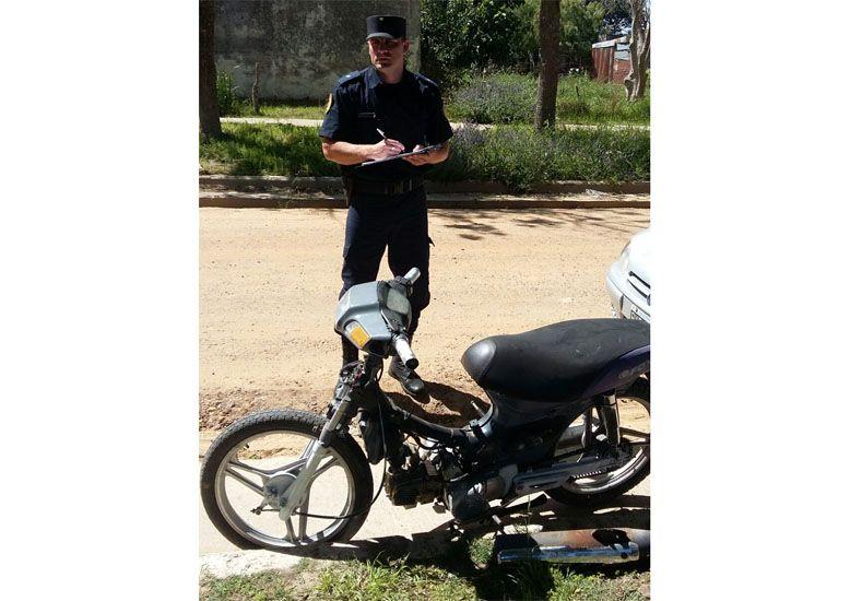 Crespo: Recuperaron moto robada