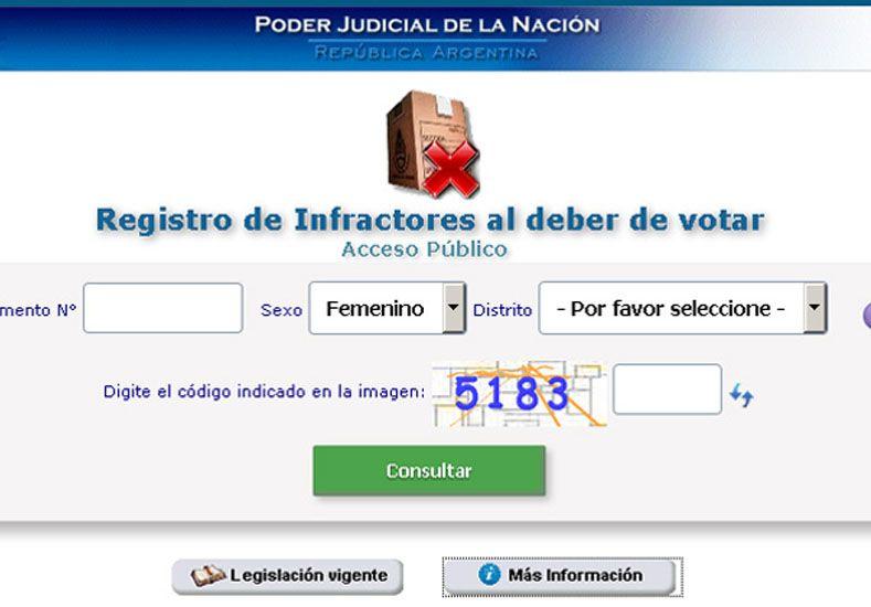 Se puede justificar la no emisión del voto con un sencillo trámite online